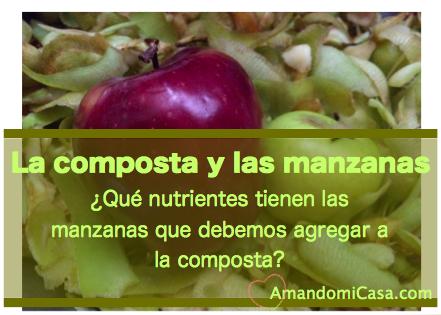 la composta y las manzanas