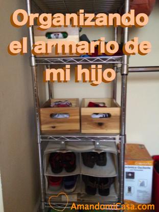 Organizando el armario de mi hijo