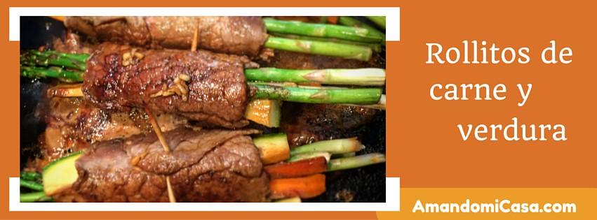 rollitos de carne y verdura