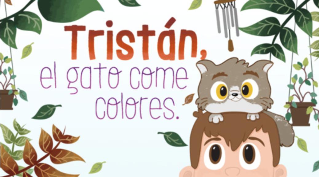 Tristan el gato come colores