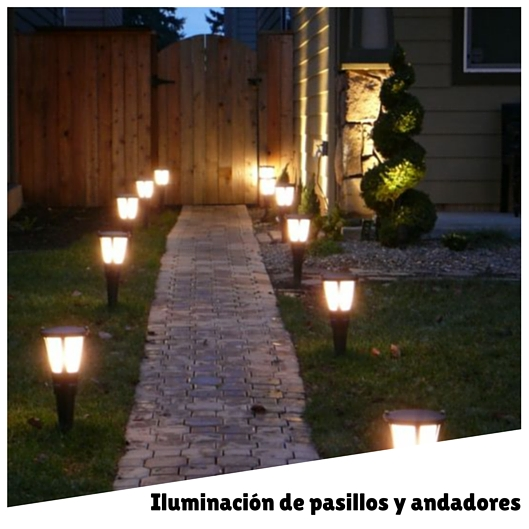 Decoraci n exterior archives for Iluminacion caminos jardin