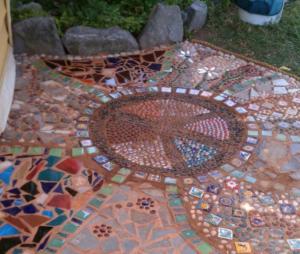 decoración del área del asador