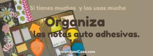 Organiza tus notas auto adhesivas