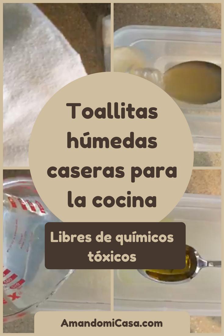 toallitas húmedas caseras sin tóxicos para la cocina